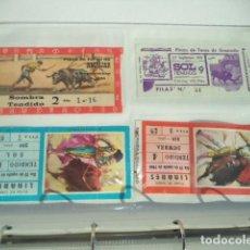 Carteles Toros: LOTE DE 56 ENTRADAS DE TOROS. Lote 226438505