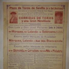 Affissi Tauromachia: CARTEL SEVILLA 1930 ALTERNATIVA SOLÓRZANO. Lote 226481652