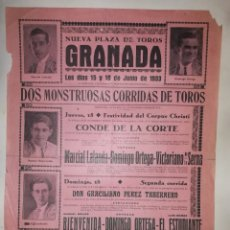 Affissi Tauromachia: CARTEL GRANADA 1933 CORPUS CRISTI. Lote 226687080
