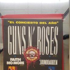 Carteles Toros: CARTEL DEL CONCIERTO DE GUNS N' ROSES EN EL VICENTECALDERON. Lote 227479540