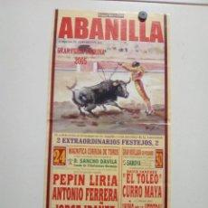 Affissi Tauromachia: LOTE CARTELES DE TOROS DE ABANILLA. Lote 227666680