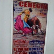 Affissi Tauromachia: LOTE CARTELES DE TOROS DE CEHEGIN. Lote 227675200