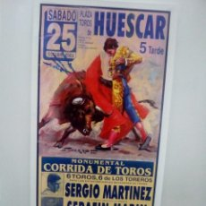 Affissi Tauromachia: LOTE CARTELES DE TOROS DE HUESCAR. Lote 227680950