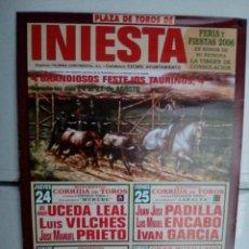Affissi Tauromachia: LOTE CARTELES DE TOROS DE INIESTA. Lote 227681125