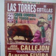 Affissi Tauromachia: LOTE CARTELES DE TOROS DE LAS TORRES DE COTILLAS. Lote 227685825