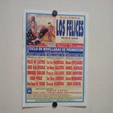 Affissi Tauromachia: LOTE CARTELES DE TOROS DE LOS FELICES (MURCIA). Lote 227686762