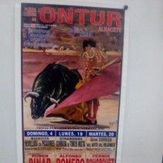 Affissi Tauromachia: LOTE CARTELES DE TOROS DE ONTUR. Lote 227688705