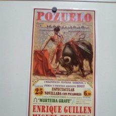 Affissi Tauromachia: LOTE CARTELES DE TOROS DE POZUELO (ALBACETE). Lote 227689750
