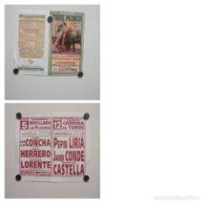 Affissi Tauromachia: LOTE CARTELES DE TOROS DE TORRE PACHECO. Lote 227691500