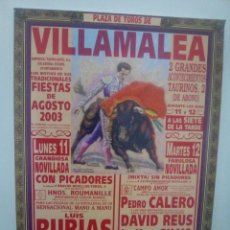 Affissi Tauromachia: LOTE CARTELES DE TOROS DE VILLAMALEA. Lote 227692510