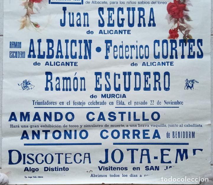 Carteles Toros: BONITO CARTEL PLAZA DE TOROS DE SAN JAVIER, MURCIA. BECERRADA 1981. W - Foto 3 - 228014865