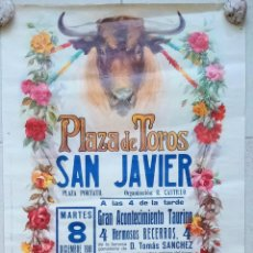 Carteles Toros: BONITO CARTEL PLAZA DE TOROS DE SAN JAVIER, MURCIA. BECERRADA 1981. W. Lote 228014865