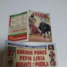 Carteles Toros: LOTAZO (NUMERO 2) DE ABARAN DE MANO. Lote 228028080