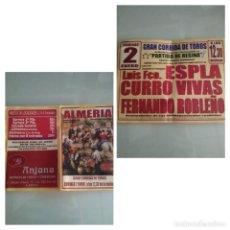 Affissi Tauromachia: LOTE DE 2 CARTELES DE TOROS DE ALMERIA. Lote 228565905