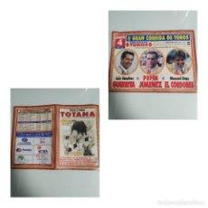 Affissi Tauromachia: CARTEL DE TOROS DE MANO DE TOTANA. Lote 228575515