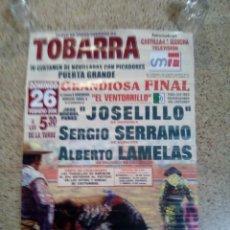 Affissi Tauromachia: CARTEL DE TOROS DE TOBARRA DE ESCAPARATE, AÑO 2006. Lote 229725225