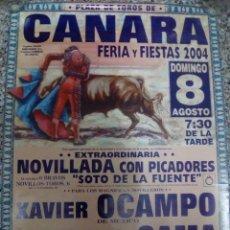 Affiches Tauromachie: CARTEL DE TOROS DE CANARA DE ESCAPARATE, AÑO 2004. Lote 229979120