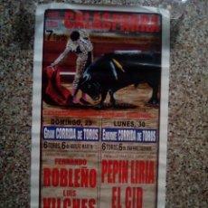 Affissi Tauromachia: CARTEL DE TOROS DE CALASPARRA DE ESCAPARATE, AÑO 2007. Lote 230033650
