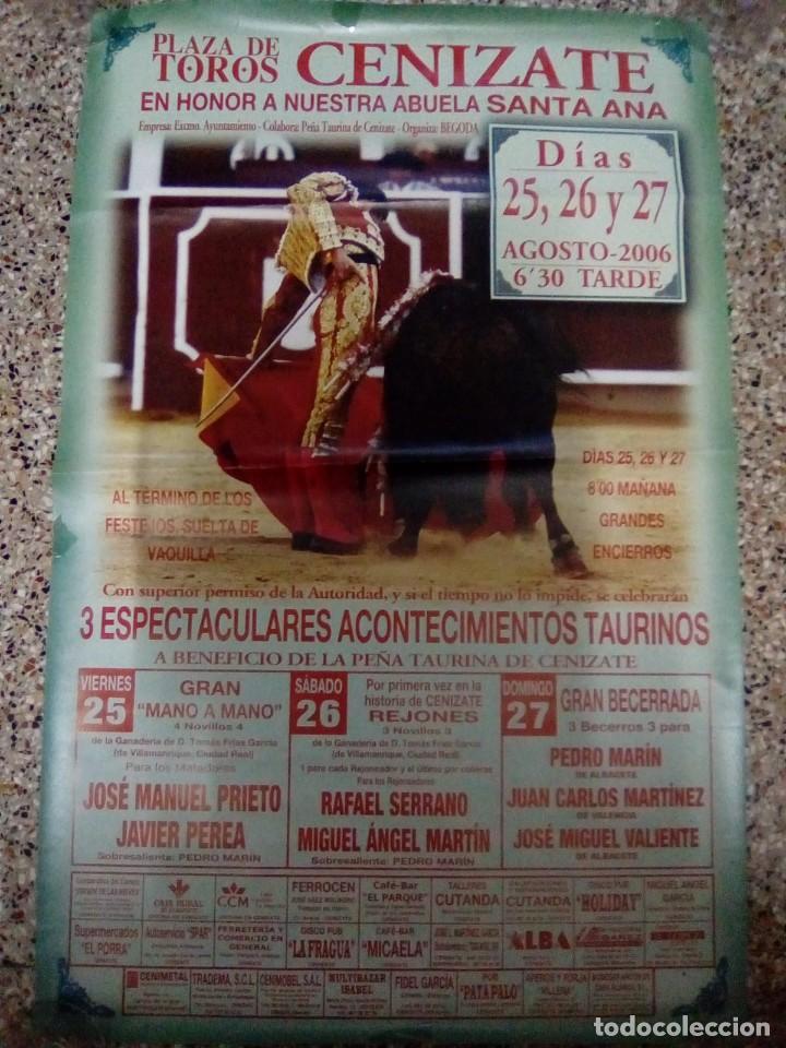 CARTEL DE TOROS DE CENIZATE DE ESCAPARATE, AÑO 2006 (Coleccionismo - Carteles Gran Formato - Carteles Toros)