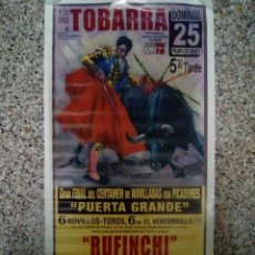 Affissi Tauromachia: CARTEL DE TOROS DE TOBARRA DE ESCAPARATE, AÑO 2007. Lote 230035260