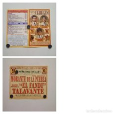 Affissi Tauromachia: CARTEL DE TOROS DE LA ALTERNATIVA DE ALEJANDRO TALAVANTE EN CEHEGIN, AÑO 2006. Lote 230223885