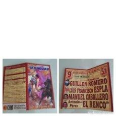 Affissi Tauromachia: CARTEL TOROS DE MANO DE LA REINAUGURACION DE LA PLAZA DE TOROS DE MONOVAR AÑO 2002. Lote 230880345