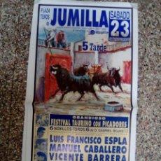 Affissi Tauromachia: CARTEL DE TOROS DE JUMILLA DE ESCAPARATE, AÑO 2002. Lote 230880820