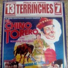 Affissi Tauromachia: CARTEL DE TOROS DEL CHINO TORERO DE TERRINCHES DE ESCAPARATE, AÑO 2006. Lote 230893695