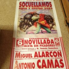 Affiches Tauromachie: CARTEL DE TOROS DE SOCUELLAMOS DE MURAL AÑO 2003. Lote 231831085