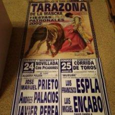 Affissi Tauromachia: CARTEL DE TOROS DE TARAZONA DE LA MANCHA (ALBACETE) DE MURAL ,AÑO 2001. Lote 231832225