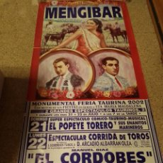 Affiches Tauromachie: CARTEL DE TOROS DE MENGIBAR (JAEN) DE MURAL ,AÑO 2002. Lote 231833395