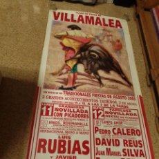 Affiches Tauromachie: CARTEL DE TOROS DE VILLAMALEA MURAL, AÑO 2013. Lote 232176500