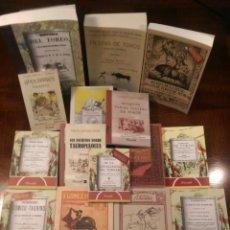 Carteles Toros: 15 LIBROS FACSÍMILES RELATIVOS A LOS TOROS (1804-1929). TAUROMAQUIA TOREROS FIESTA NACIONAL ESPAÑA. Lote 252407555
