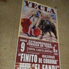 Affiches Tauromachie: CARTEL DE TOROS DE YECLA DE MURAL , AÑO 2010. Lote 232330200