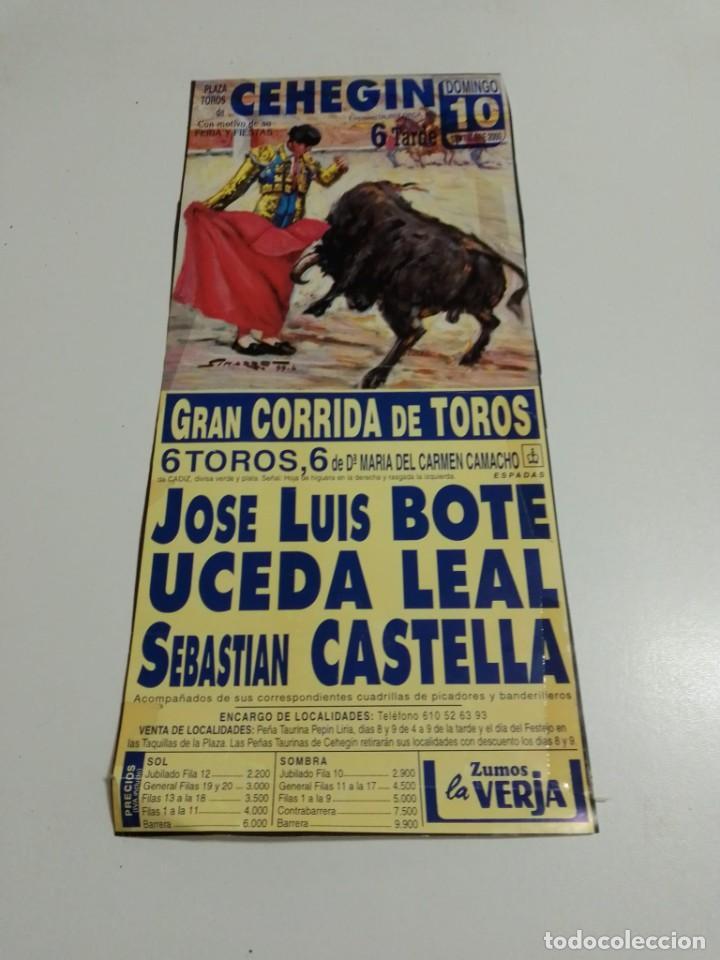 CARTEL DE TOROS DE CEHEIGN DE MANO, AÑO 2000 (Coleccionismo - Carteles Gran Formato - Carteles Toros)