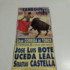Affissi Tauromachia: CARTEL DE TOROS DE CEHEIGN DE MANO, AÑO 2000. Lote 232943560