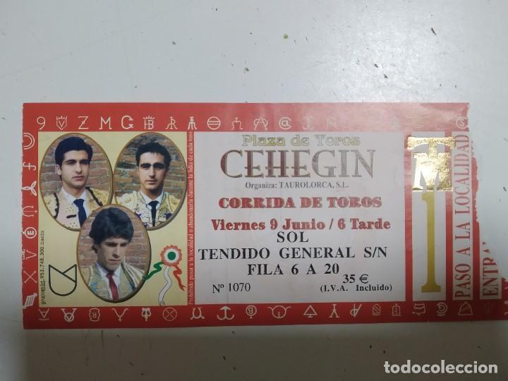 ENTRADA DE TOROS DE CEHEGIN, AÑO 2006, ALTERNATIVA DE ALAJANDRO TALAVANTE CON MORARANTE Y EL FANDI (Coleccionismo - Carteles Gran Formato - Carteles Toros)
