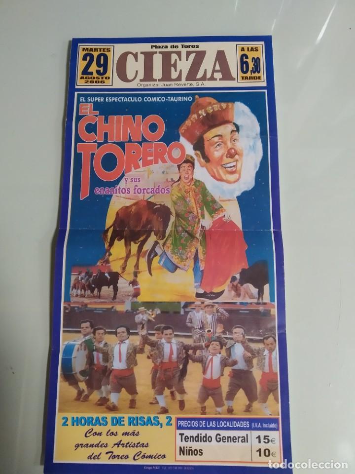 CARTEL DE TOROS DE CIEZA, EL CHINO TORERO, AÑO 2006 (Coleccionismo - Carteles Gran Formato - Carteles Toros)