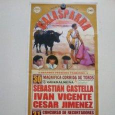 Affiches Tauromachie: CARTEL DE TOROS DE CALASPARRA DE MANO, AÑO 2005. Lote 235461165