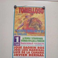 Affissi Tauromachia: CARTEL DE TOROS DE TOMELLOSO DE MANO, AÑO 2002. Lote 235514110