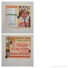 Carteles Toros: CARTEL DE TOROS DE TOMELLOSO DE MANO, AÑO 2006. Lote 262877550