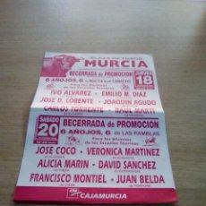 Affissi Tauromachia: CARTEL DE TOROS DE MURCIA DE MANO, AÑO 2003. Lote 235519085