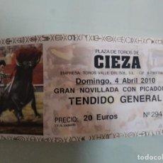 Carteles Toros: ENTRADA DE TOROS DE CIEZA, AÑO 2010. Lote 235632620