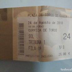 Carteles Toros: ENTRADA DE TOROS DE CIEZA, AÑO 2010. Lote 235632855
