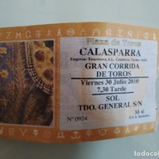 Carteles Toros: ENTRADA DE TOROS DE CALASPARRA AÑO 2010. Lote 235633140