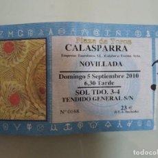 Carteles Toros: ENTRADA DE TOROS DE CALASPARRA, AÑO 2010. Lote 235633340