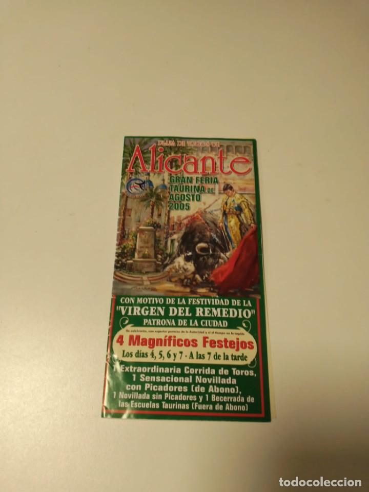 CARTEL DE TOROS DE ALICANTE DE MANO, AÑO 2005 (Coleccionismo - Carteles Gran Formato - Carteles Toros)