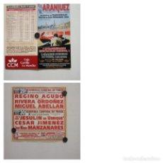 Carteles Toros: CARTEL DE TOROS DE ARANJUEZ DE MANO, AÑO 2004. Lote 235790370
