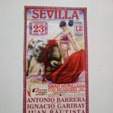 Carteles Toros: CARTEL DE TOROS DE SEVILLA DE MANO, AÑO 1999. Lote 235791800