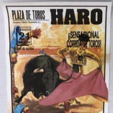 Cartazes Touros: CARTEL PLAZA DE TOROS HARO. LA RIOJA. 21 DE MAYO DE 1994. Lote 235890625